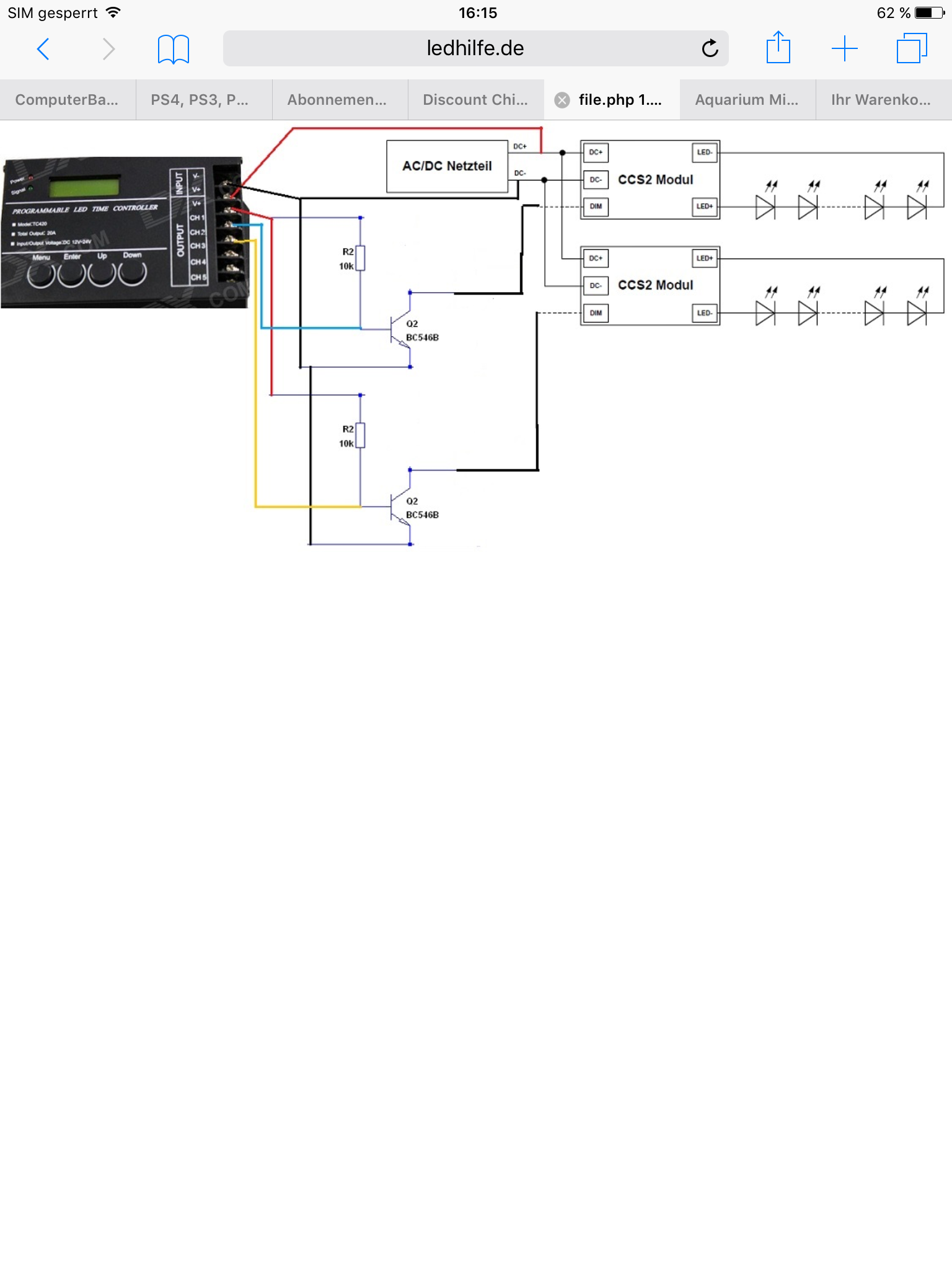 TC420 LED Verkabelung ?? DIY - Aquariumbeleuchtung - Aquascaping Forum